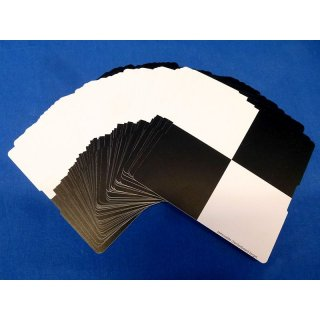 Set of 50 checkerboard stickers (removable)