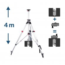 2-Way Telescope Tripod with 3D Safety Adapter for FARO...