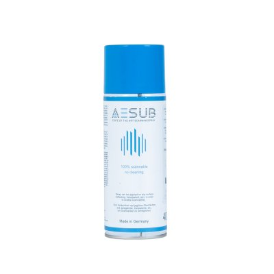 AESUB blue - Spray anti-reflets pour le scanning laser 3D