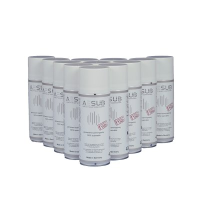 AESUB white – Set of 12 cans of anti-reflective spray