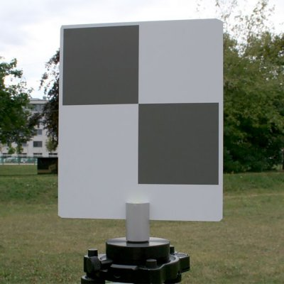 Small laser scanner checkerboard target