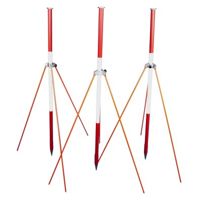 Set consisting of 3 ranging poles with ranging pole strut support